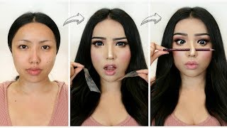 Download I followed VIRAL ASIAN MAKEUP TRANSFORMATIONS!!! Video