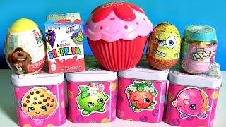 Download Strawberry Cupcake Doll Surprise Shopkins Chef Club Jar Season 6 Shopkins Tin Kinder Egg SpongeBob Video