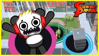 Download Let's Play Hole.io with Combo Panda! I ATE A WHOLE BUILDING !!! Video