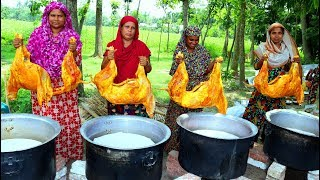 Download MUTTON BIRIYANI - 4 Full Goat Biryani Cooking To Celebrate Muslim Eid With 500+ Village People Video