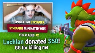 Download Donating To Streamers Who Kill Me In Fortnite Battle Royale! Video