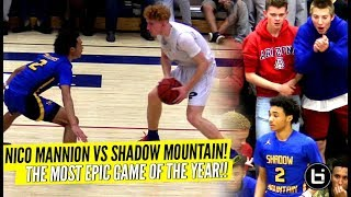 Download Nico Mannion vs Shadow Mountain Was INSANE!! EPIC Ending To The Rivalry Game!! Nico Vs J-House!! Video
