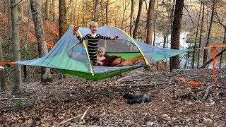 Download Hammock tent camping WIN or FAIL??? - Tensile Stingray 3 person tent review Video