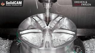 Download SolidCAM Bearbeitungsvideo Felge Video