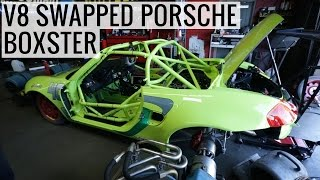 Download Not an LS! V8 Swapped Porsche Boxster on Dyno Sounds Menacing Video