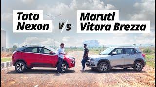 Download Maruti Suzuki Vitara Brezza Vs Tata Nexon: Can The Cool New Kid's 'oomph' Take On The Veteran? Video