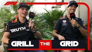Download Red Bull's Daniel Ricciardo and Max Verstappen | Grill the Grid: Truth or Lie? Video
