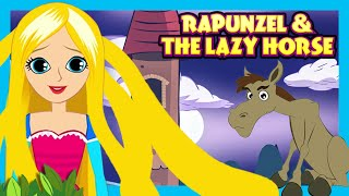 Download Rapunzel and The Lazy Horse - STORIES | English Stories For Kids Video