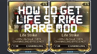 Download Warframe - How To Get The Life Strike Mod Video