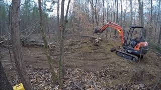 Download Clearing Trees and Stumps for Driveway With Kubota Video