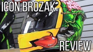Download Icon Airframe Pro Brozak Helmet Graphic Review from Sportbiketrackgear Video