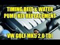 Download Timing belt & water pump kit replacement VW Golf Mk5, Jetta 2.0 TDI Video