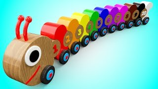 Download Learn Colors and Numbers for Children with Wooden Caterpillar Toys Kids Toddler Educational Videos Video