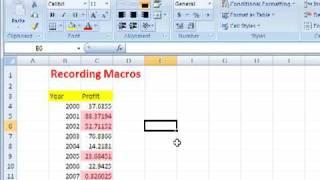 Download Recording Macros in Excel Video