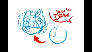 Download How To Draw Anime & Furry Heads | ART TUTORIAL Video