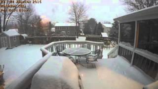 Download Time Laps (Blizzard Tempête De Neige) | Etats-Unis | 22 - 24 Janvier 2016 Video
