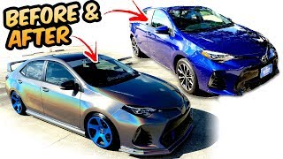 Download Before & After Mods 2017 Corolla SE 1 year process Video