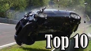 Download Top 10 of Hardest Crashes on Nürburgring Nordschleife Video