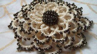 Download موديلات الكروشي بالعقد (التخريم بالعقد) / Tatting / Crochet / مع أم سعد عبد الله Video