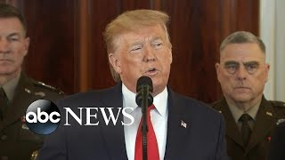 Download Trump addresses the nation following Iran's missile strikes on US forces in Iraq | ABC News Video