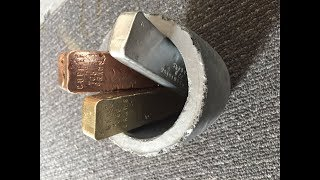 Download MIXING METALS - MOLTEN COPPER BRASS & ALUMINIUM TOGETHER - DROP TEST INCLUDED Video