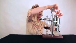 Download Brew coffee 19th century style with a balancing siphon Video