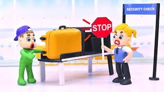 Download LUKA BABY AIRPORT SECURITY STOPS MYSTERIOUS LUGGAGE 💖 Play Doh Cartoons For Kids Video