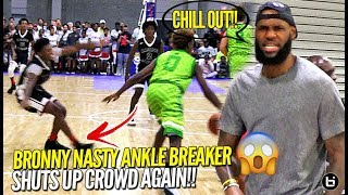 Download Lebron James Watches Bronny Jr. BREAK Defender's Ankles After Crowd Chants OVERRATED AGAIN!! Video