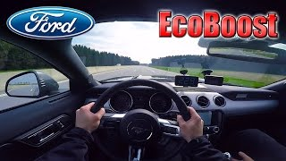 Download 2017 Ford Mustang EcoBoost (0-240km/h) POV- Acceleration, Top speed TEST✔ Video