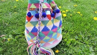 Yarn Overyarn Under Haken Mochila Wayuu Bag Free Download Video