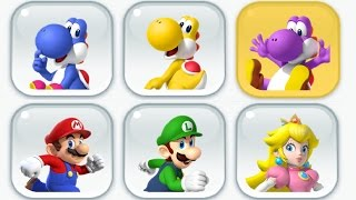 Download Super Mario Run - New Characters - Toad Rally (Blue, Yellow and Purple Yoshi) Video