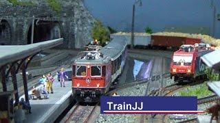 Download Märklin Modelleisenbahn H0 Gotthard Strecke | Swiss Model Train layout | Zwitserse modelbaan Marklin Video
