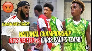 Download LeBron James Coaches Bronny Jr to Championship vs Chris Paul's Team in HEATED OT BATTLE! Video