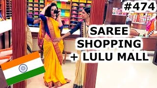 Download SAREE SHOPPING & LULU MALL | KOCHI DAY | INDIA | TRAVEL VLOG IV Video