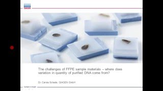 Download Challenges of FFPE Sample Materials – Where Does Variation in Quantity of Purified DNA Come From? Video