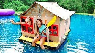 Download BOX FORT ON WATER!! Video