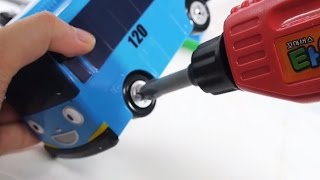 Download Tayo the Little Bus & Dino Tools toy with Learn Color / How to Make Bus Video