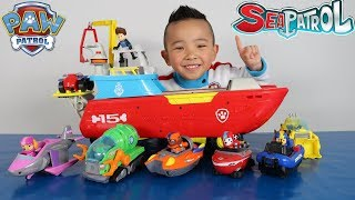 Download Paw Patrol Sea Patroller Vehicles And Characters Complete Set Toys Unboxing With Ckn Video