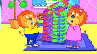 Download Lion Family Huge Lego City Cartoon for Kids Video