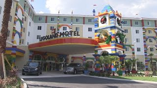 Download Legoland Hotel tour - lobby, restaurant, pool at Legoland Florida Resort Video