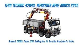 Download 'Lego Technic 42043: Mercedes-Benz Arocs 3245' Unboxing, Speed Build & Review Video