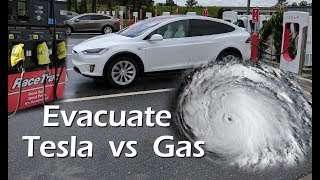 Download Evacuating with a Tesla vs Gasoline Car Video
