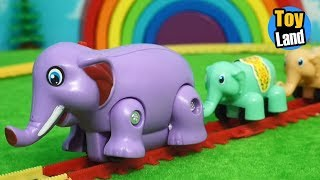 Download Elephant Train Toy for children Videos Kids TRAIN TRACK SET TOYLAND Video