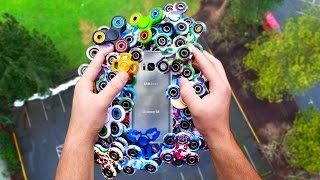 Download Can $1000 of Fidget Spinners Protect Galaxy S8 from 100 FT Drop Test? Video