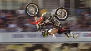 Download Cliffhanger vs Rock Solid Backflip - Next Level FMX Contest Video