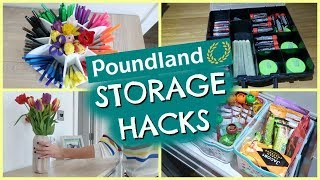 Download POUNDLAND STORAGE HACKS & DIY ORGANISATION   STORAGE IDEAS TO ORGANIZE YOUR LIFE Video