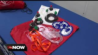 Download Dog rescue masks donated to fire department Video