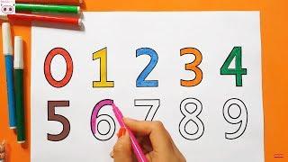 Download Dạy bé học đếm số, dạy bé tô màu chữ số từ 0 đến 9 Video