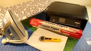 Download How to Print on Fabric with an Inkjet Printer and Freezer Paper - Washable as Well! Video