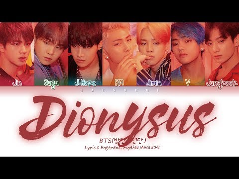 BTS (방탄소년단) - Dionysus (Color Coded Lyrics Eng/Rom/Han/가사)